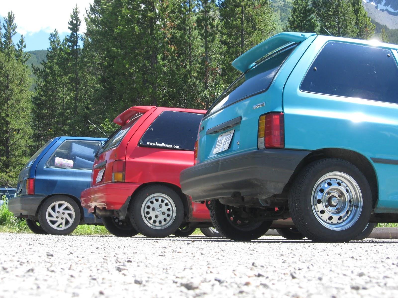 Ford Festiva Econobox Red Blue