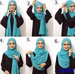 Hasil gambar untuk tutorial hijab pashmina simple tanpa ciput