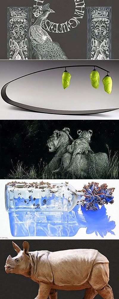 waterhouse natural science art prize - maureen prichard, crystal stubbs, lesley barrett, scott hartshorne, chris stubbs