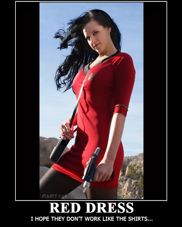 star trek red shirt nsaney'z posters ii star trek babe red shirt, the expendable