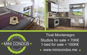 Studios and 1-Beds for sale in Tivat, Montenegro