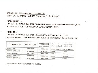 we do provide BUS to KOTA KINABALU