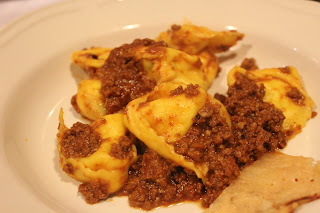Cheese tortellini with Bolognese sauce