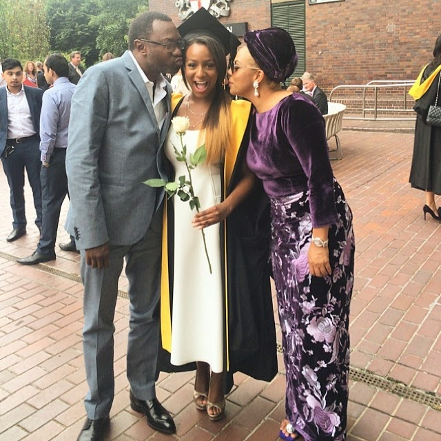 Billionaire Femi Otedola Celebrates His Daughter, DJ Cuppy's Graduation Ceremony – Photos