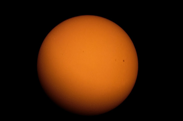 Photo of the Sun using the celestron travelscope and the sun filter.