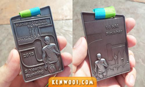 kl marathon 2013 finisher medal