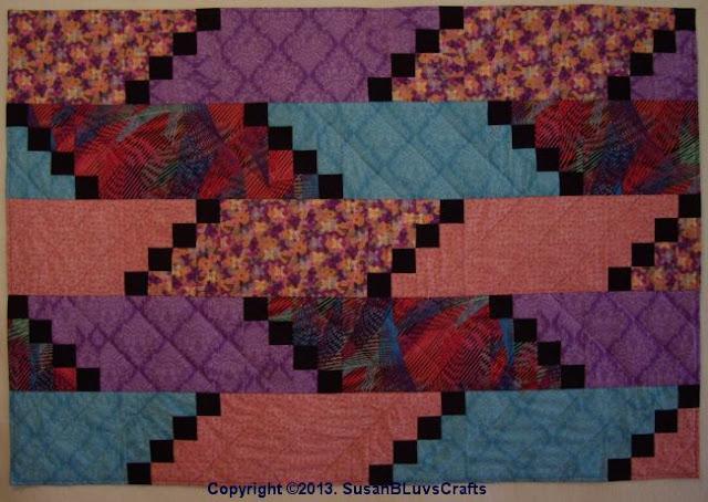 Diagonal Puzzle quilt