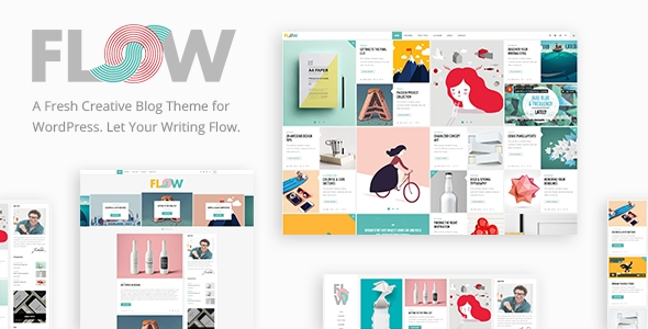 Download Flow - A Fresh Creative WordPress Blog Theme