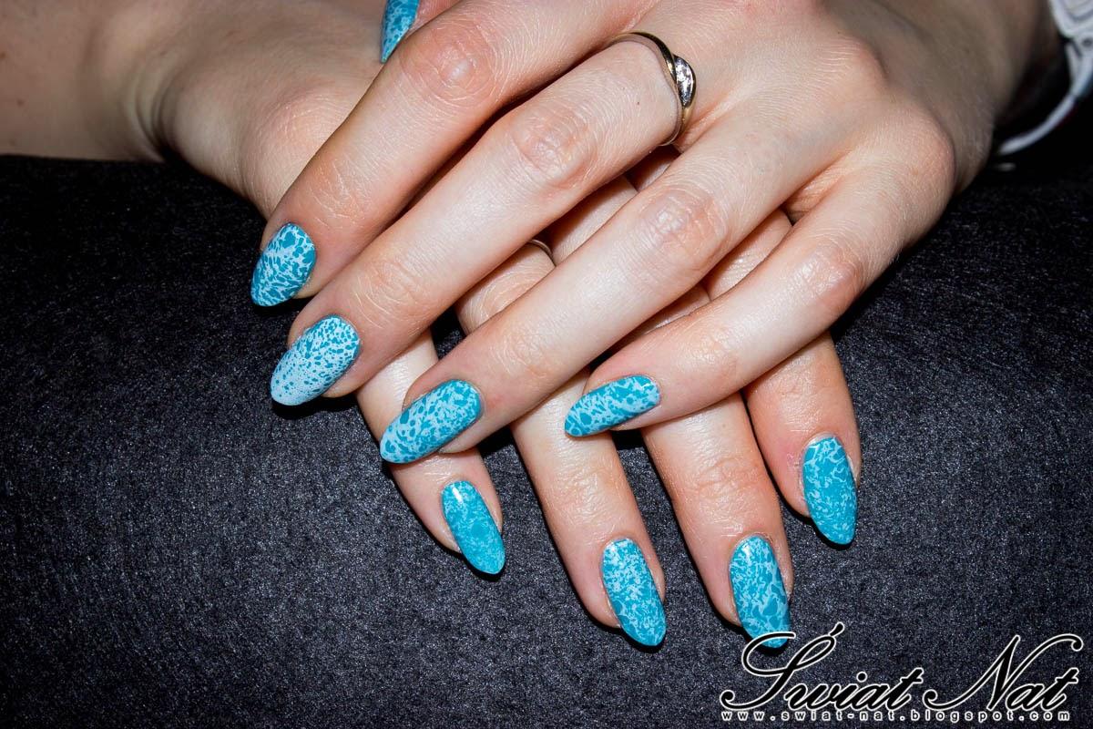 paznokcie nail nails nailart water marble