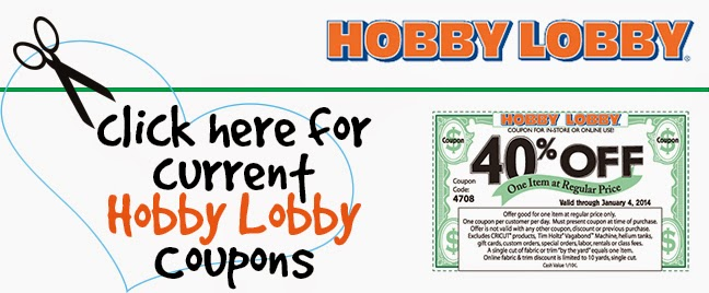Discount coupons for a main hobbies