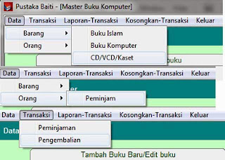 Menu Contoh Program Perpustakaan