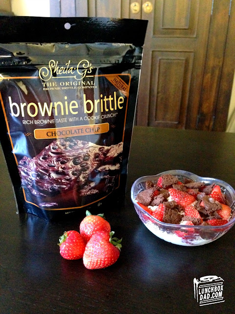 Brownie Brittle Healthy Yogurt Snack