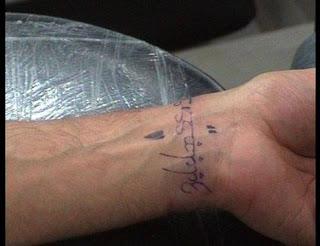 Hrithik Roshan Susanne Roshan Tattoo Design