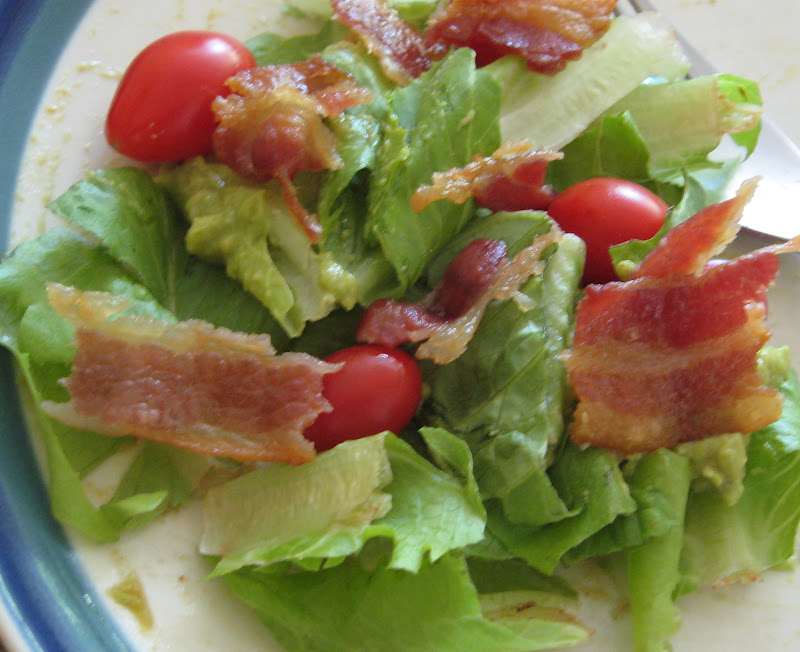 One Little Word She Knew: Bacon, Lettuce, Tomato, Guacamole Salad