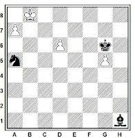 Estudio artístico de ajedrez de José Mugnos (61 - Buenos Aires, 1954)