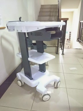 USG portable 2 dimensi murah Trolley-usg-portable-2