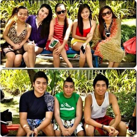 The cast of LUV U with Ella Cruz in Plantation Bay, Cebu