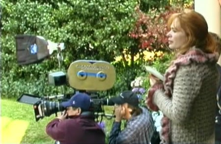 Writer-Director-Actress Adrienne Shelly on the set of WAITRESS