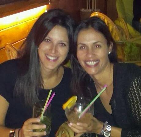 Las gimnastas Estela Giménez y Tania Lamarca, juntas en el 2013