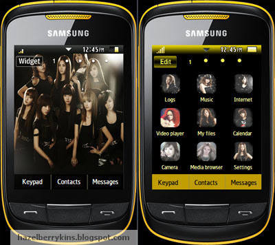 girls generation korean pop sensation samsung corby 2 theme