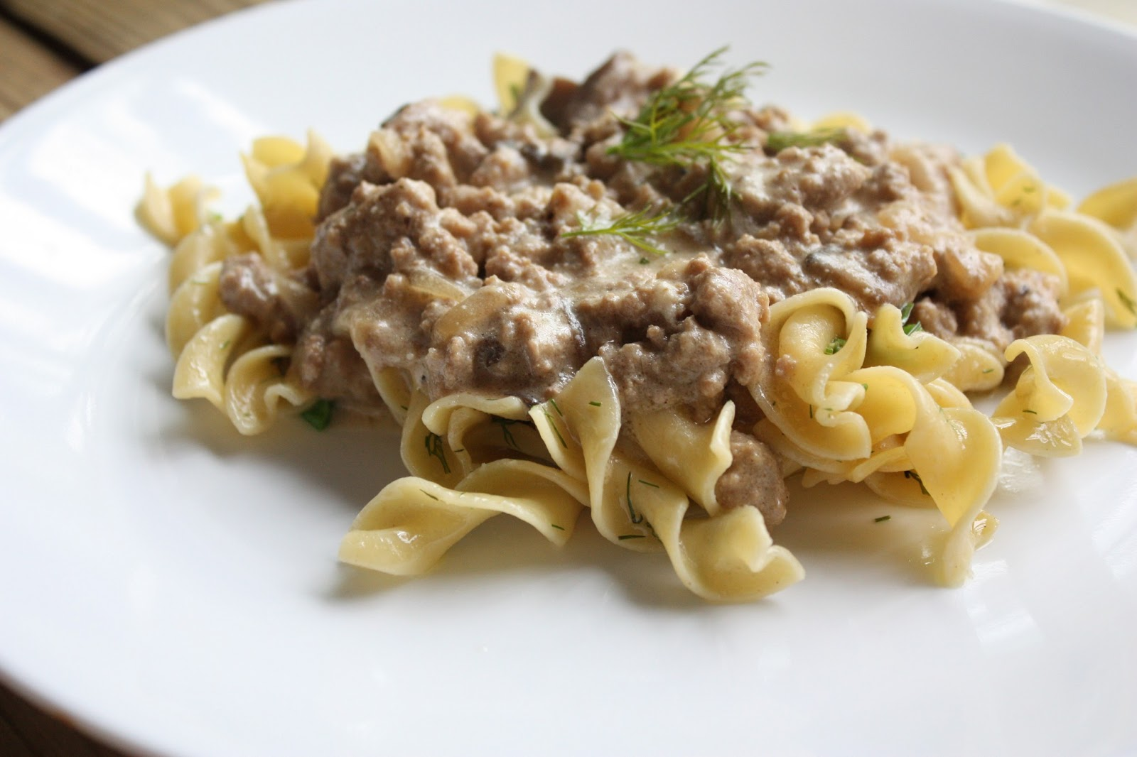 ground turkey stroganoff summery ground turkey stroganoff yield about ...