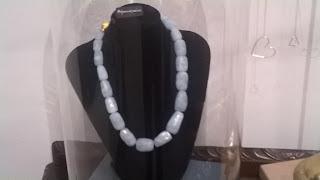Aquamarine stone Necklace