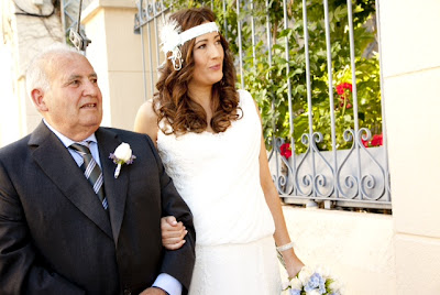 foto real tocado de novia en boda padrino ojuilla