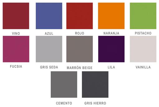 fregadero fregadera vino burdeos azul rojo naranja verde pistacho fucsia rosa morado lila malva gris seda marron beige vainilla cemento gris hierro