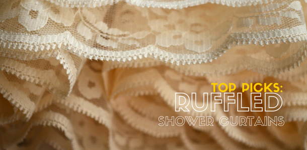 Best Ruffled or Tiered Shower Curtains