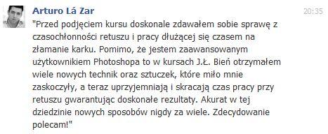 Opinia Kursu Retuszu Justyna Ł. Bień