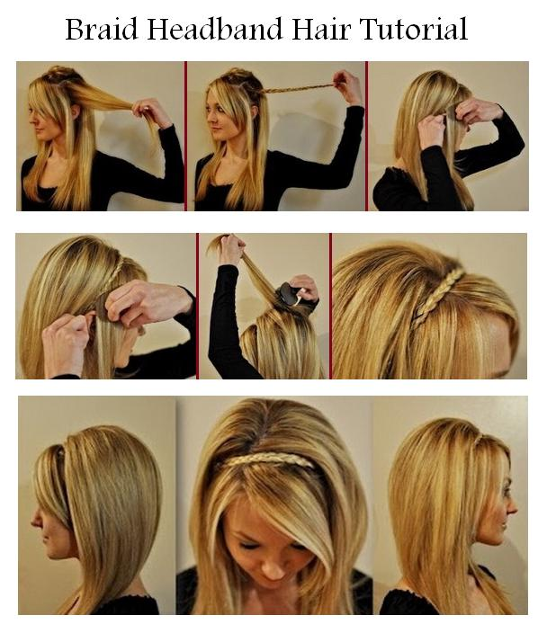 Hairstyles For Short Hair And How To Do It : New Short Hair Styles: Make A Braid Headband For Your Hair