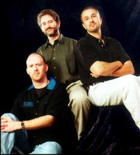 Blizzard founders Frank Pearce, Mike Morhaime and Allen Adham