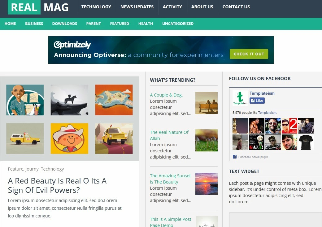 Dynamic Mag Responsive - Blogger Templates