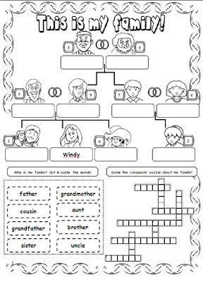 NEW 453 WORKSHEET ON FAMILY FOR GRADE 2 | family worksheet
