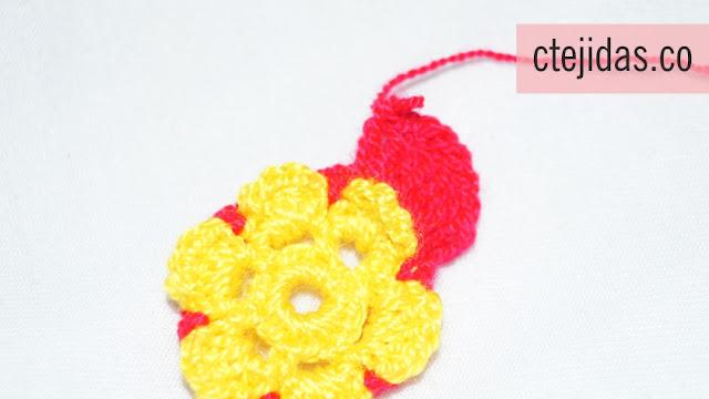 Flor de 6 pétalos a Crochet - Paso a Paso
