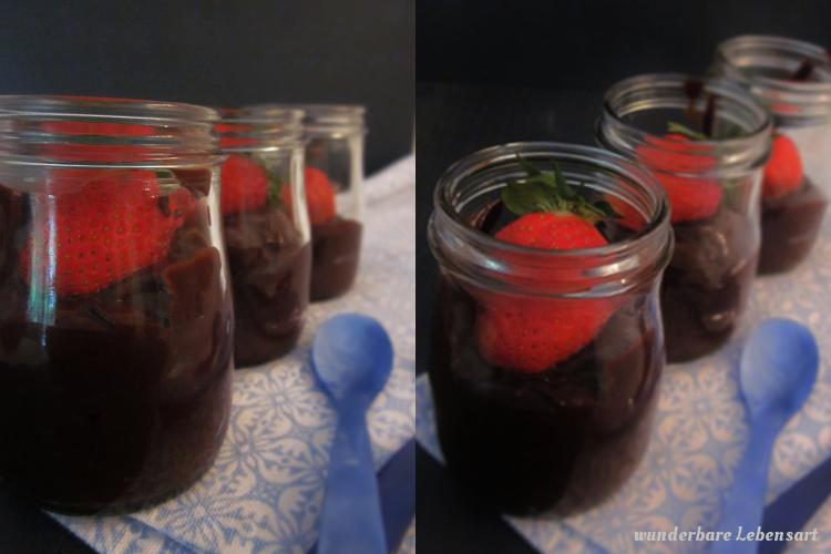 Schokoladenpudding ohne Milch, Mandelmilch selbst machen