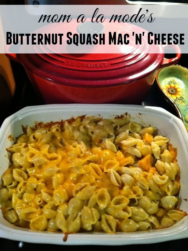 mom a la mode's Butternut Squash Mac 'n' Cheese - Pieces ...