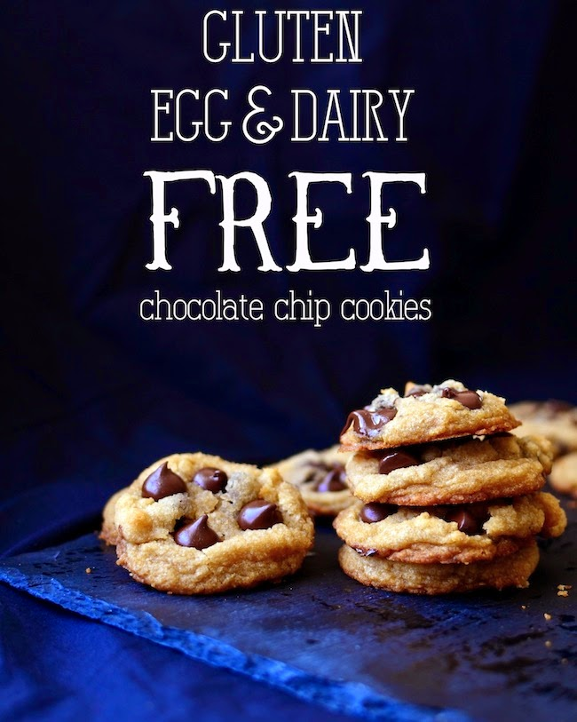 Chewy Chocolate Chip Cookies {You'll Never Believe They're Gluten, Eg...