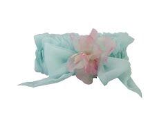 Silk chiffon garter