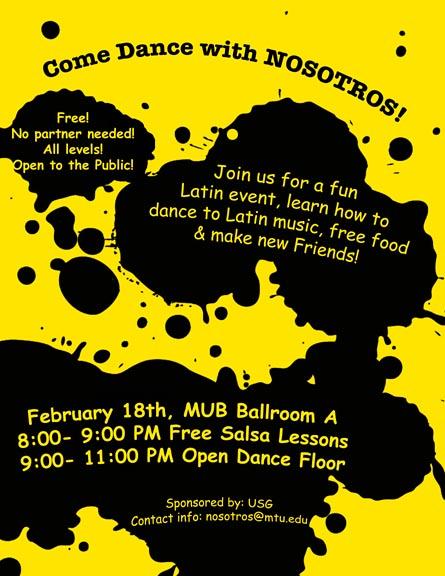 Dance with NOSOTROS Feb. 18