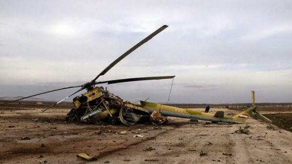 helikopter hancur