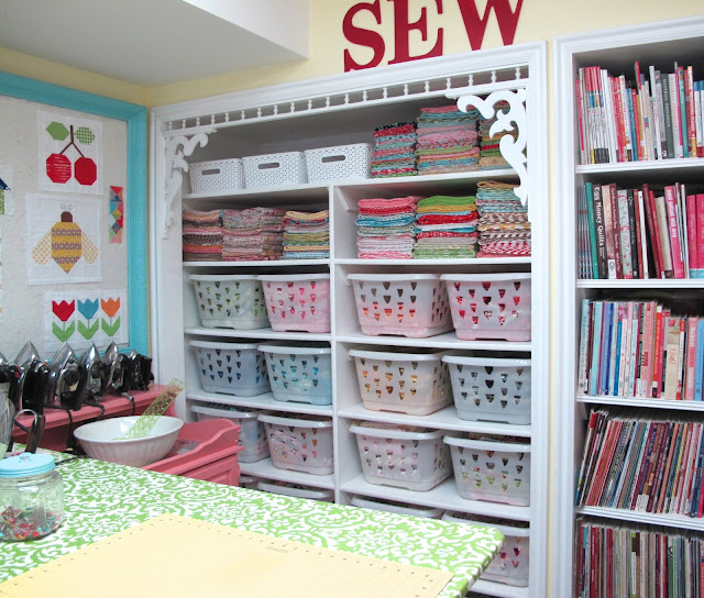 Bon Pretty Tubs By Bee In My Bonnet. Great Idea For Fabrics Storage
