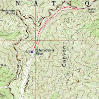 Glendora Mountain topo map