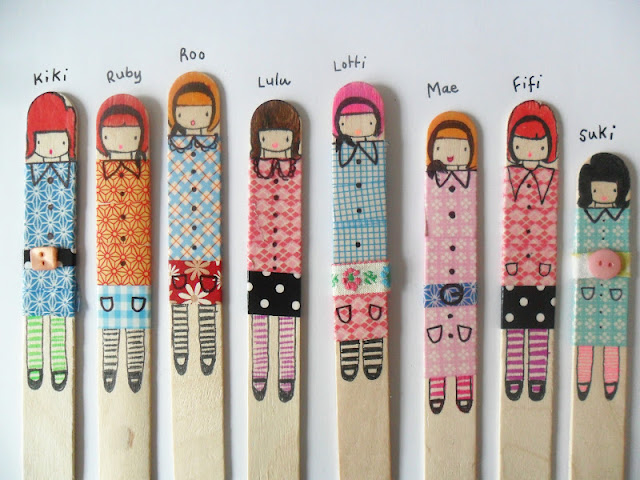 Making stick dolls with the kids