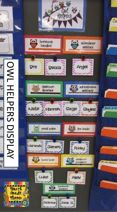 Modular Classroom Jobs ~ Fourth grade flipper monday made it classroom jobs