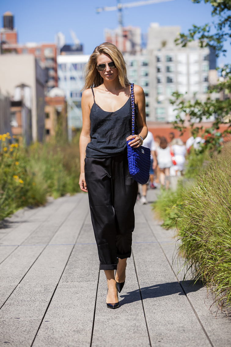 All Black Julia Jentzsch Guess Helianthus NYC Highline
