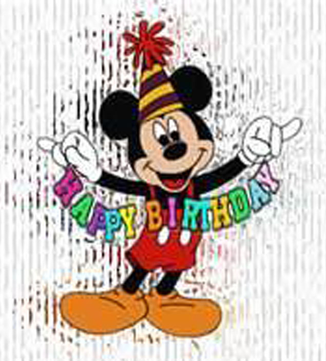 Disney Happy Birthday Mickey Mouse Characters Wallpaper