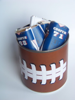 Football Party Favors Free printable by Kandy Kreations. A great and easy party favor to fill with your favorite treats.