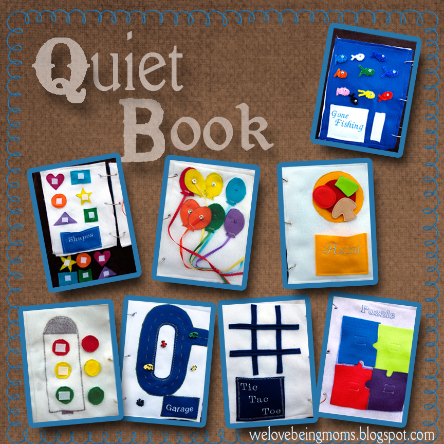 Quiet Book Cover Page Ideas : We love being moms our quiet book
