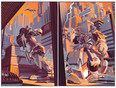 Decepticon Diptych Screen Print by Laurent Durieux - Soudwave & Devastator